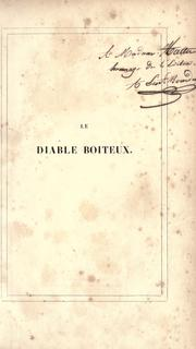 Cover of: Le diable boiteux by Alain René Le Sage