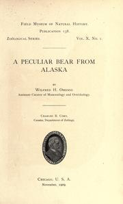 Cover of: A peculiar bear from Alaska