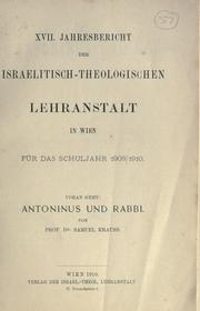 Cover of: Antoninus und Rabbi