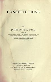 Cover of: Constitutions