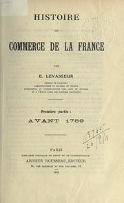 Cover of: Histoire du commerce de la France
