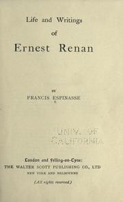 Cover of: Life of Ernest Renan | Francis Espinasse