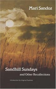 Cover of: Sandhill Sundays and Other Recollections