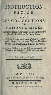 Cover of: Instruction facile sur les conventions