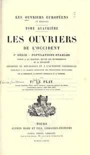 Cover of: Les ouvriers européens