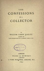 Cover of: The confessions of a collector