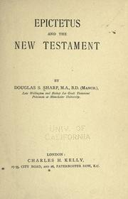 Cover of: Epictetus and the New Testament | Douglas Simmonds Sharp