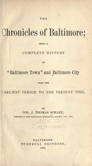 Cover of: The chronicles of Baltimore | J. Thomas Scharf