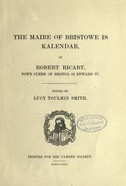 Cover of: The maire of Bristowe is kalendar