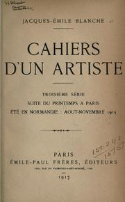 Cover of: Cahiers d'un artiste ..