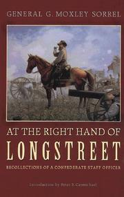 Cover of: At the right hand of Longstreet