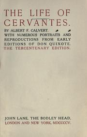 Cover of: The life of Cervantes