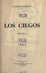 Cover of: Los ciegos