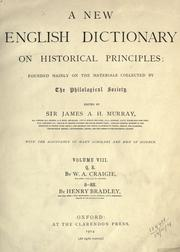 Cover of: A new English dictionary on historical principles