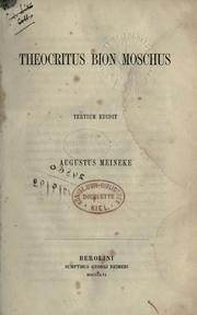Cover of: Theocritus, Bion, Moschus