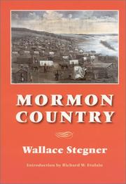 Cover of: Mormon country | Wallace Stegner