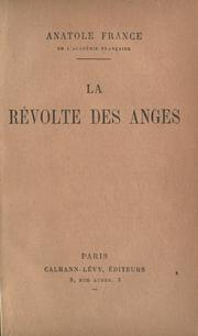 Cover of: La re volte des anges | Anatole France