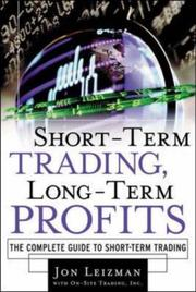 Cover of: Short Term Trading, Long-Term Profits | Jon Leizman