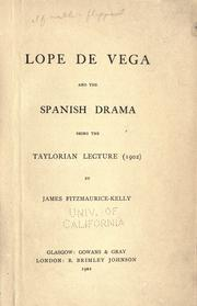 Cover of: Lope de Vega and the Spanish drama