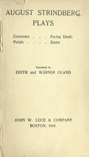 Cover of: Plays: Comrades; Facing Death; Pariah; Easter