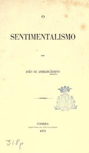 Cover of: O sentimentalismo