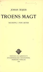 Cover of: Troens magt