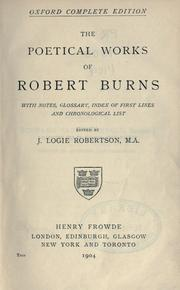 Cover of: poetical works. | Robert Burns