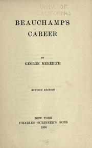 Cover of: Beauchamp's career
