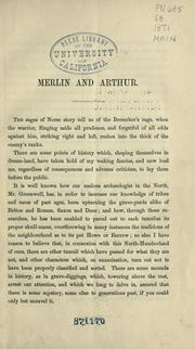 Cover of: Merlin and Arthur