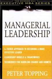 Cover of: Managerial Leadership | Peter Topping