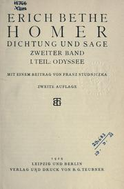 Cover of: Homer, Dichtung und Sage