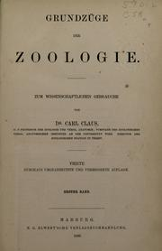 Cover of: Grundzüge der Zoologie