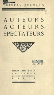 Cover of: Auteurs, acteurs, spectateurs
