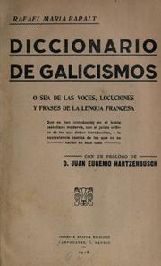 Cover of: Diccionario de galicismos