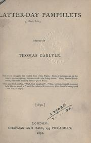 Cover of: [Works] | Thomas Carlyle