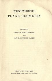 Cover of: Wentworth's plane geometry