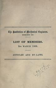 Cover of: List of members