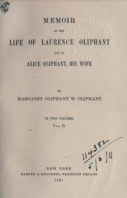 Cover of: Memoir of the life of Laurence Oliphant and of Alice Oliphant, his wife