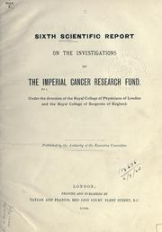 Cover of: Scientific reports. | Imperial Cancer Research Fund