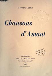 Cover of: Chansons d'amant