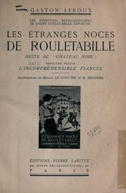 Cover of: Les étranges noces de Rouletabille
