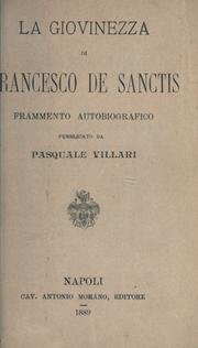 Cover of: La giovinezza di Francesco de Sanctis