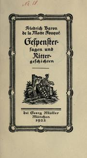 Cover of: Gespenstersagen und Rittergeschicten