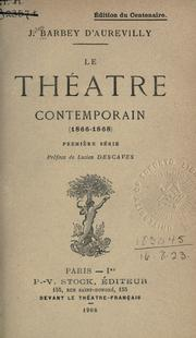Cover of: Le théâtre contemporain, 1866-1870