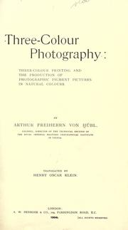 Cover of: Three-colour photography