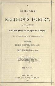 Cover of: A library of religious poetry: a collection of the best poems of all ages and tongues, with biographical and literary notes.