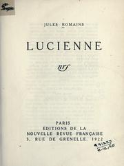 Cover of: Lucienne
