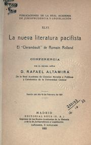 Cover of: La nueva literatura pacifista