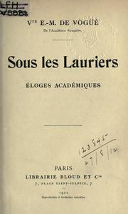 Cover of: Sous les lauriers