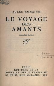 Cover of: Le voyage des amants